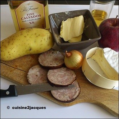 croustillant de andouille au camembert